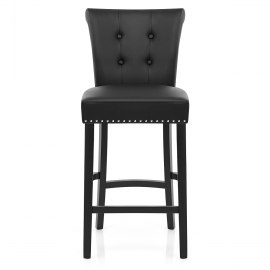 Buckingham Bar Stool Black Leather