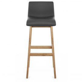 Wave Bar Stool Grey