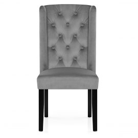 Regent Dining Chair Grey Velvet