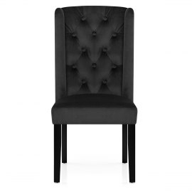 Regent Dining Chair Black Velvet