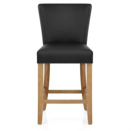 Harrow Oak Stool Black