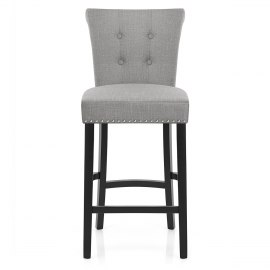 Buckingham Bar Stool Grey Fabric