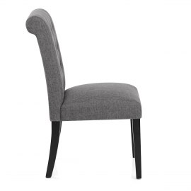 Thornton Dining Chair Charcoal Fabric