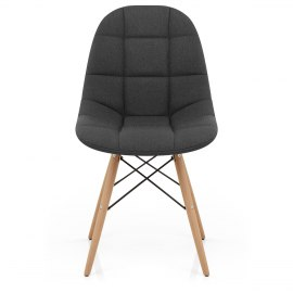 Moda Wooden Chair Charcoal Fabric