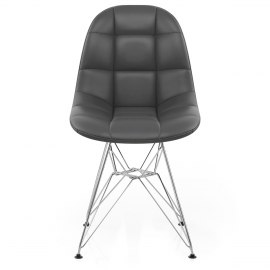 Moda Chrome Chair Grey