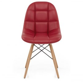 Moda Wooden Chair Red