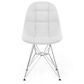 Moda Chrome Chair White