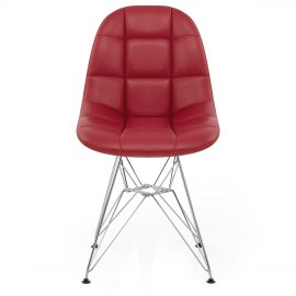 Moda Chrome Chair Red