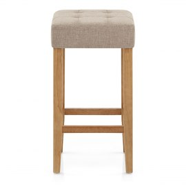 Oliver Oak Stool Tweed Fabric