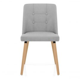 Appleby Dining Chair Light Grey Fabric