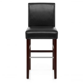 purnell walnut stool black