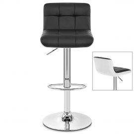 Tao Bar Stool White & Black
