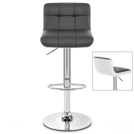 Tao Bar Stool White & Grey