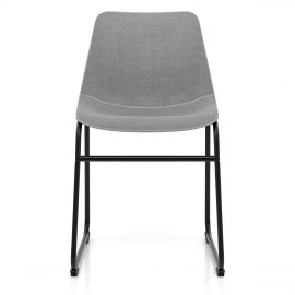Bucket Dining Chair Grey Fabric