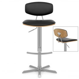 Strada Oak Bar Stool Black