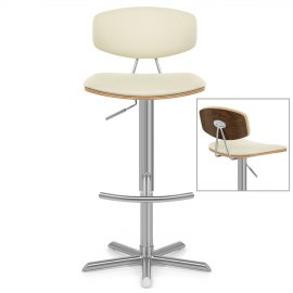 Deluxe Brushed High Back Stool Cream Atlantic Shopping