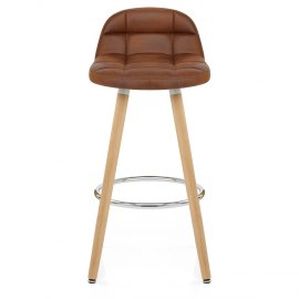 Sole Wooden Stool Antique Brown