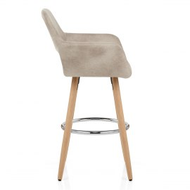 Kite Wooden Stool Antique Cream