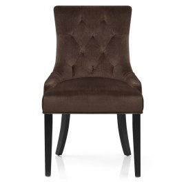 Newbury Dining Chair Brown Velvet
