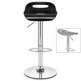 Soda Bar Stool Black & Silver