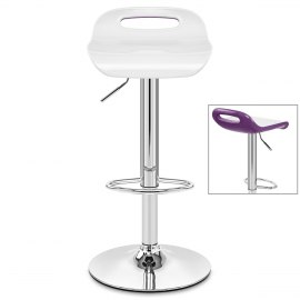 Soda Bar Stool White & Purple