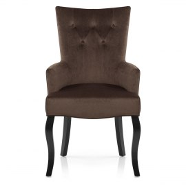 Fleur Chair Brown Velvet