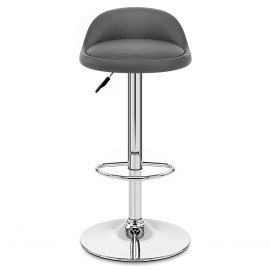 Sensational Addison Brushed Steel Stool Grey Atlantic Shopping Pabps2019 Chair Design Images Pabps2019Com