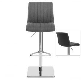 Clifford Bar Stool Grey & Charcoal Fabric