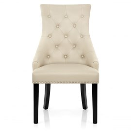 Ascot Dining Chair Cream Leather
