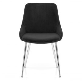 Aston Dining Chair Black Velvet
