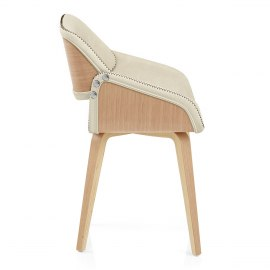 Flint Oak Chair Cream