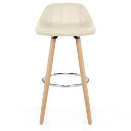 Jazz Wooden Stool Cream
