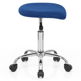 Pace Stool With Wheels Blue