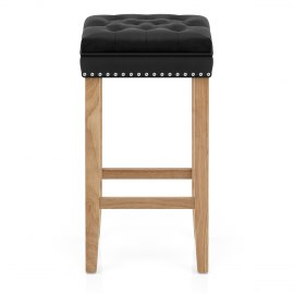 Belgravia Oak Stool Black Velvet