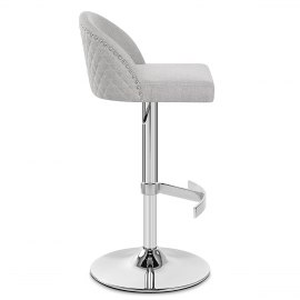 Boutique Bar Stool Light Grey Fabric
