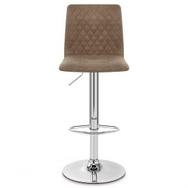 Atlanta Stool Brown Suede