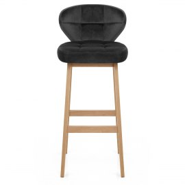 Marco Oak Stool Black Velvet