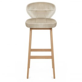 Marco Oak Stool Cream Velvet