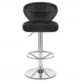 Polo Bar Stool Black Velvet