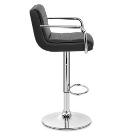 Brooklyn Bar Stool With Arms Black
