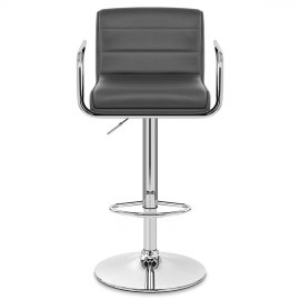 Brooklyn Bar Stool With Arms Grey