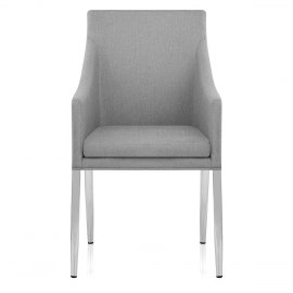 Hoxton Dining Chair Light Grey Fabric