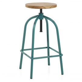 Vice Antiqued Stool Teal