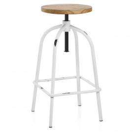Vice Antiqued Stool White