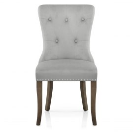 Florence Dining Chair Grey Velvet