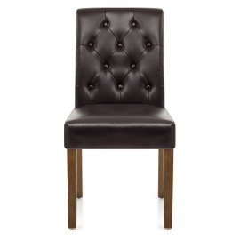 Denver Oak Dining Chair Brown