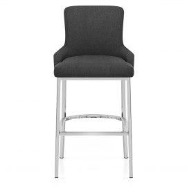 Blush Bar Stool Charcoal Fabric