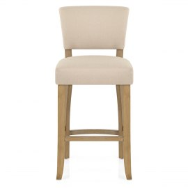 Dorchester Oak Stool Cream Fabric
