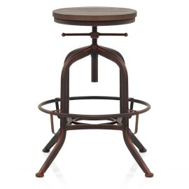 Hub Industrial Stool Antique Copper