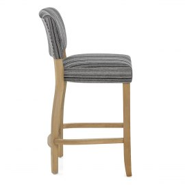 Dorchester Oak Stool Grey Stripe